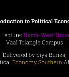 Guest Lecture: Introduction to Political Economy
