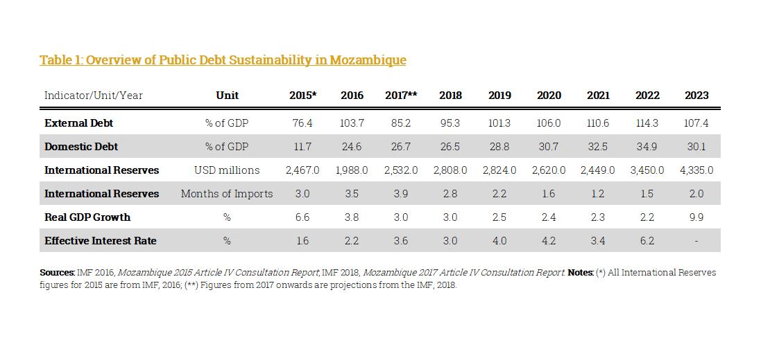 Mozambican Public Debt Sustainability